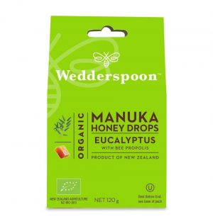 Wedderspoom ORGANIC Natural Manuka Honey Drops Eucalyptus (20 Drops per box)