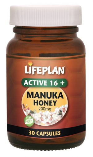 Lifeplan Active Manuka Honey Capsules 16+ 200mg - 30 capsules