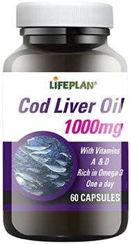 Lifeplan Cod Liver Oil High Strength 1000mg - 60 capsules