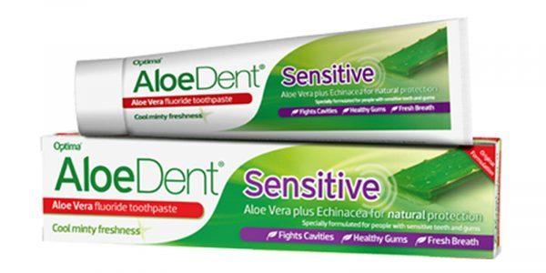 Aloedent Aloe Vera Sensitive Toothpaste with Fluoride plus Echinacea 100ml