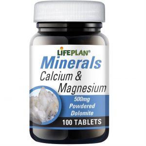 Lifeplan Calcium & Magnesium 500mg - 100 tablets