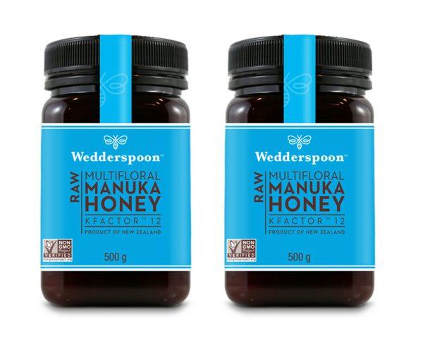 Wedderspoon RAW Manuka Honey KFactor 12+ 2 x 500g