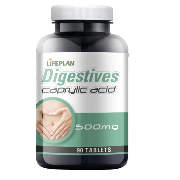Lifeplan Caprylic Acid 500mg 90 tablets