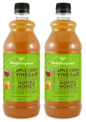 Wedderspoon Apple Cider Vinegar with Manuka Honey - 2 x 750ml TWIN PACK