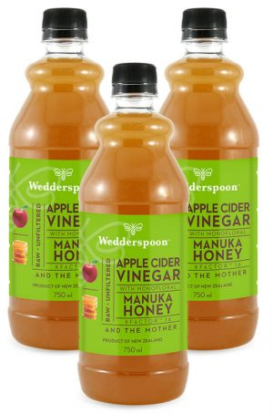 Wedderspoon Apple Cider Vinegar with Manuka Honey - 3 x 750ml TRIPLE PACK