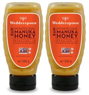 Wedderspoon RAW Manuka Honey SQUEEZY KF16 TWIN PACK