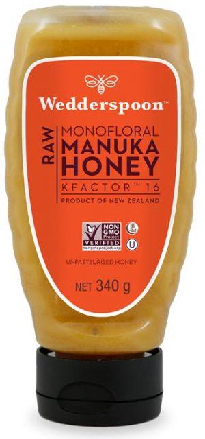 Wedderspoon RAW Manuka Honey SQUEEZY KF16