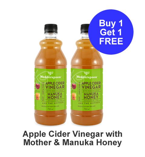 Buy one get one free Apple Cider Vinegar with Monofloral Manuka Honey