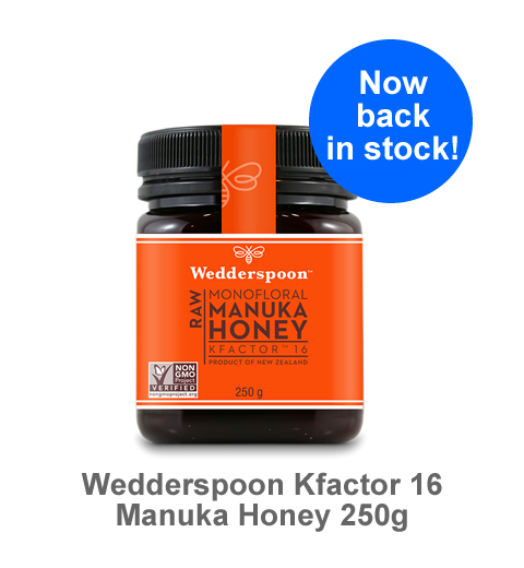 Now back in stock, our Monofloral Manuka KFactor 16 250g