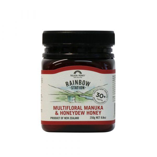 Rainbow Station Multifloral Manuka & Honeydew Honey MG 30+ 250g