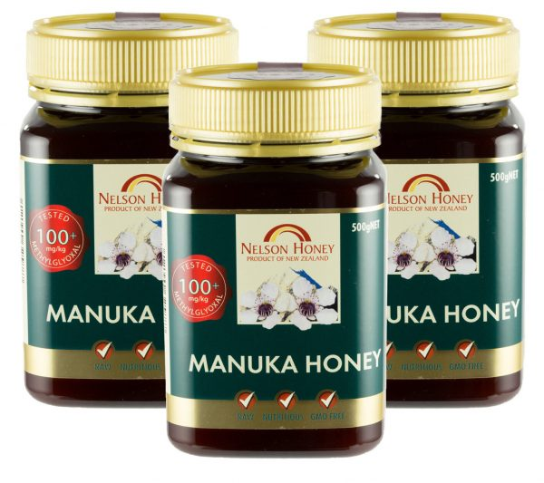 Nelson Manuka Honey MG 100+ - 3 x 500g TRIPLE PACK